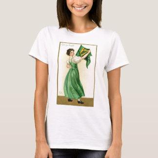 Camiseta Poster original da senhora da bandeira do Dia de