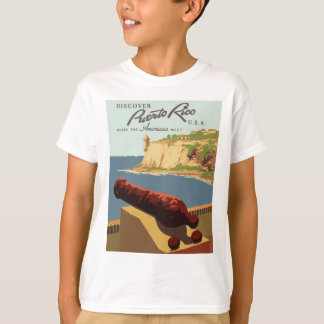 Camiseta Poster Puerto Rico das viagens vintage