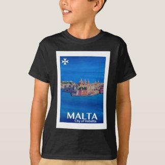 Camiseta Poster retro Malta valletta - cidade dos