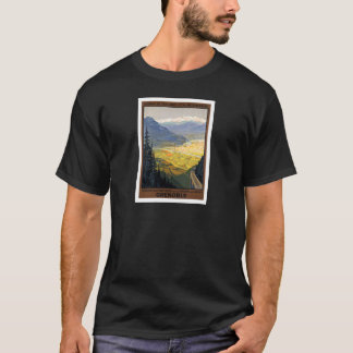 Camiseta Posteres vintage da estrada de ferro de Grenoble