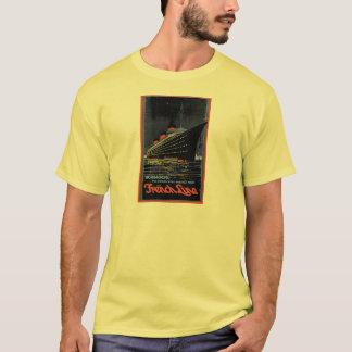 Camiseta Posters das viagens vintage: Linha francesa