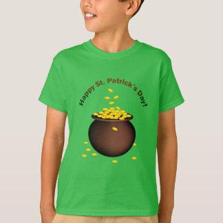 Camiseta Pote da moeda do Dia de São Patrício