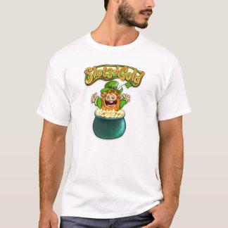 Camiseta Pote do t-shirt de Tommy do ouro