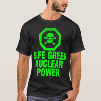 Camiseta Potência nuclear verde seguro