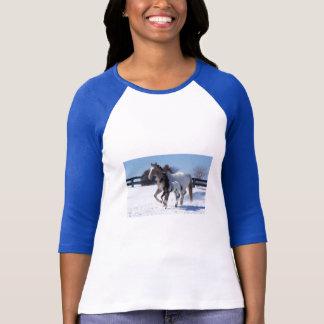 Camiseta Potro bonito dos animais da neve do inverno do