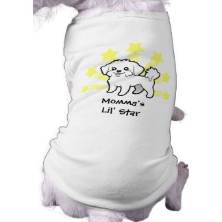 Camiseta Pouca estrela maltesa (filhote de cachorro
