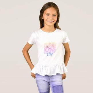 Camiseta Pouco coração Cluster_Name Template_ do Girls'_
