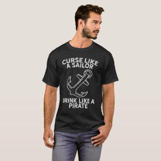Camiseta Praga como uma bebida do marinheiro como um T do