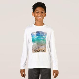 Camiseta Praia bonita de Cancun - aguarela de Digitas