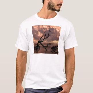 Camiseta Praia da madeira lançada costa do por do sol
