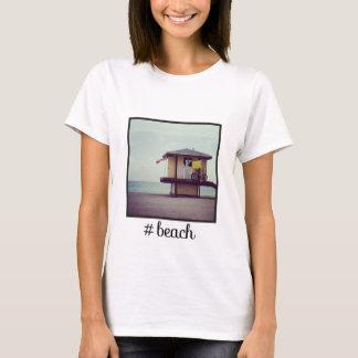 Camiseta Praia de Hashtag com imagem de Instagram
