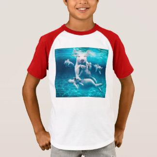 Camiseta Praia do porco - porcos da natação - porco