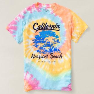 Camiseta Praia espiral Califórnia de Newport da tintura do
