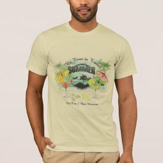 Camiseta Praia tropical, férias de verão | personalizada