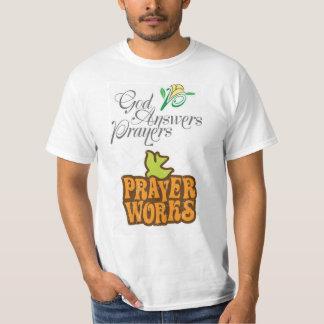 Camiseta Pray ao tshirt do deus