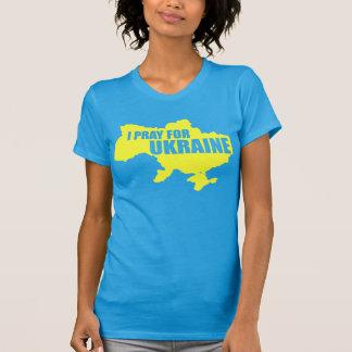 Camiseta Pray para a parte alta T das mulheres de Ucrânia