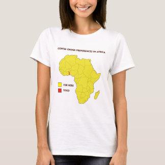 Camiseta Preferência da ordem do café em África