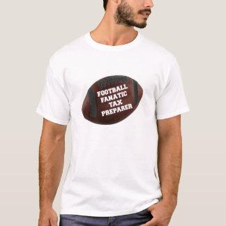 Camiseta Preparador de imposto fanático do futebol
