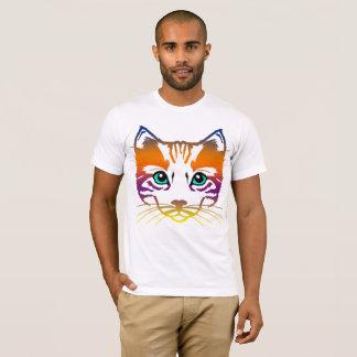 Camiseta Presente artístico do amante dos gatos do animal