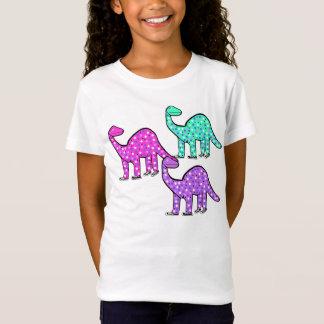 Camiseta Presente cor-de-rosa do t-shirt do dinossauro da