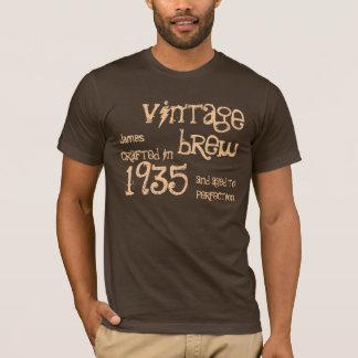 Camiseta Presente da fermentação do vintage do 80 de um ano