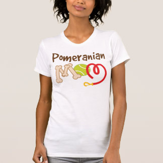 Camiseta Presente da mamã da raça do cão de Pomeranian