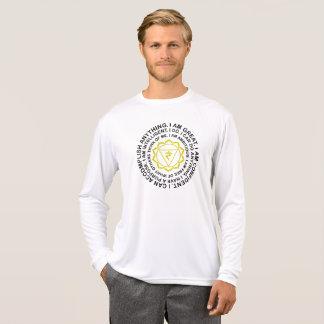 Camiseta Presente da mantra de Manipura Chakra do plexo
