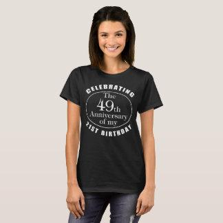 Camiseta presente da mordaça do aniversário do 70