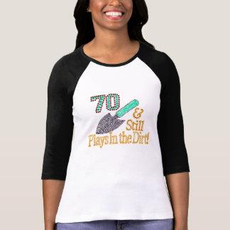 Camiseta Presente de aniversário de jardinagem do 70 do