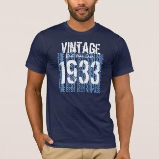 Camiseta presente de aniversário do 80 vintage V01 de 1933