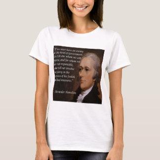 "Camiseta ""Presente do líder inimigo"" de Alexander Hamilton"