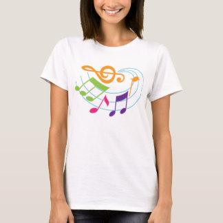 Camiseta Presente do músico das notas musicais