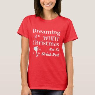 Camiseta Presente do Natal do Tshirt | do vinho do White