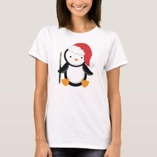Camiseta Presente do pinguim do jogador de flauta