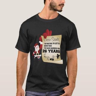 Camiseta Presente do Tshirt do Xmas do excelente 26o para o