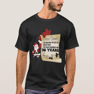 Camiseta Presente do Tshirt do Xmas do excelente 36th para