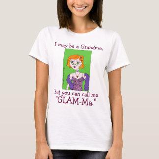 Camiseta Presente dos parabéns para a avó glamoroso das