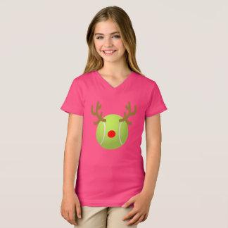 Camiseta presente engraçado do Natal do t-shirt do tênis da