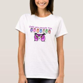 Camiseta Presente engraçado do t-shirt das corujas do