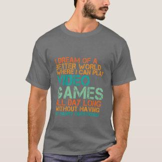 Camiseta Presente engraçado do t-shirt dos Gamers para nerd