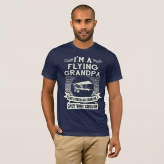 Camiseta Presente engraçado do vovô do vôo para o piloto