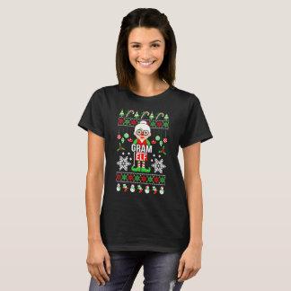 Camiseta Presente feio do duende do grama do Natal do