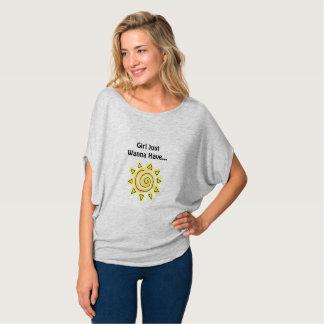 Camiseta Presente fêmea da dama de honra do verão do