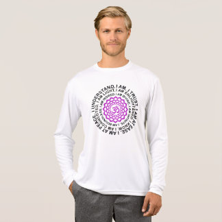 Camiseta Presente legal da mantra de Chakra da coroa do