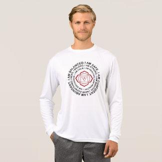 Camiseta Presente legal da mantra de Chakra da raiz do