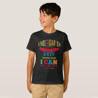 Camiseta Presente pré-escolar do formando do jardim de