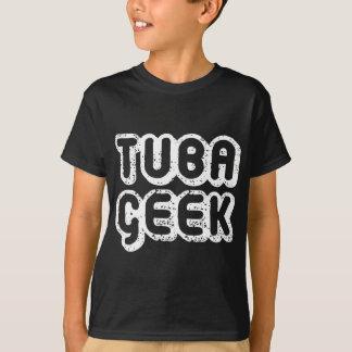 Camiseta Presente retro da música do geek da tuba