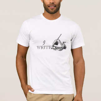 Camiseta Presente simples retro do vintage para escritores