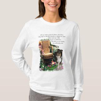 Camiseta Presentes ásperos da arte do Collie da Tri Cor