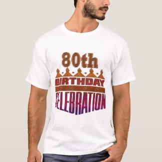 Camiseta presentes da celebração do aniversário do 80